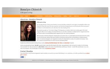 Rosalyn Chissick - Award winning literary novelist